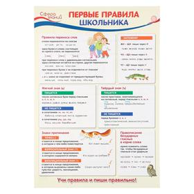 """Плакат """"Первые правила школьника"""" А3"""