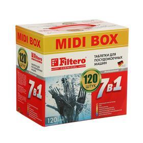 """Таблетки для посудомоечной машины Filtero """"7в1"""" MIDI BOX, 120 шт"""