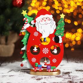 Новогодний сувенир «Дед мороз и Ёлки», 7х16,5х26,5 см