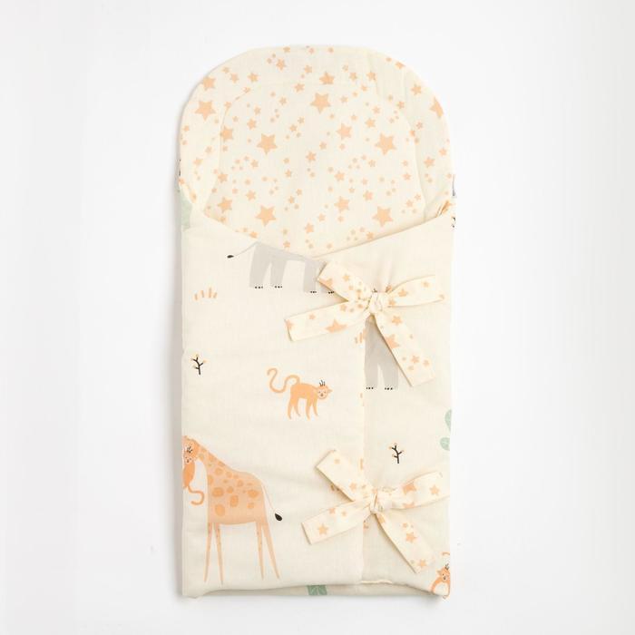 """Одеяло-конверт """"Крошка Я"""" Safari, 33х73 см, 100% хлопок - фото 76513128"""