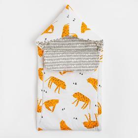 "Одеяло-конверт ""Крошка Я"" Tiger, 39х75 см, 100% хлопок"