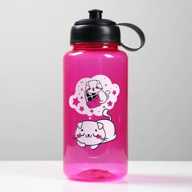 """Бутылка для воды """"Котик"""", 1200 мл"""