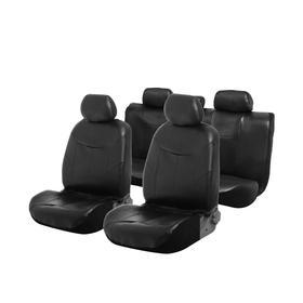 Car seat covers Cartage universal, 9-piece, PU leather, black