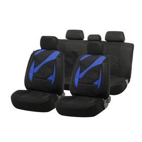Car seat covers Cartage universal, 11 pieces, black-blue