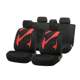 Car seat covers Cartage universal, 11 pieces, black-red