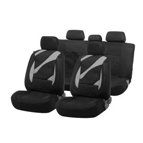Car seat covers Cartage universal, 11 pieces, black-gray