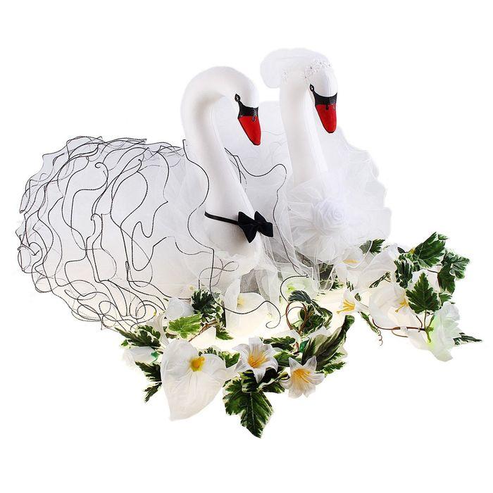 Открытка лебеди на свадьбу