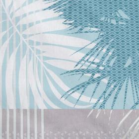 Постельное бельё Евро «Пальмира», цвет бирюзовый, 200х220см, 220х240см, 70х70см 2шт