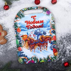 "Cutting Board "" Santa Claus with horses»"