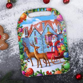 """Cutting Board """"Santa Claus and the house»"""