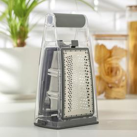 Тёрка кухонная Premium, 13,5×8,5 см, ABS-пластик, нержавеющая сталь