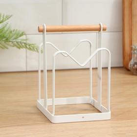 Держатель для кухонных принадлежностей Доляна, 18×12,5×12,5 см, цвет белый