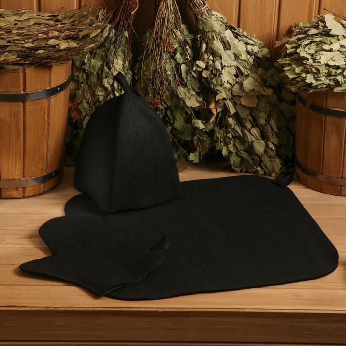 Набор: шапка+рукавица+коврик (в пакете) - фото 760284