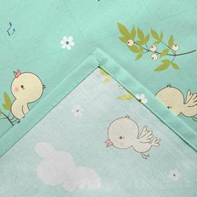 Постельное бельё детское «Птенчики» 112х147, 100х150, 40х60 -1 шт - фото 7402211