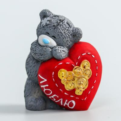 """Souvenir polystone """"Bear Me to you in love with a big heart-Love"""" 4.5 cm"""