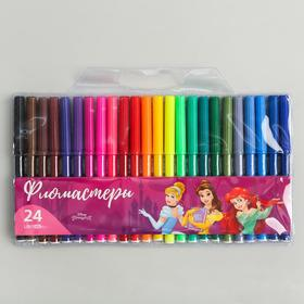 """Фломастеры 24 цвета """"Принцессы Дисней"""", Принцессы"""