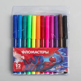 Фломастеры, 12 цветов, Человек-паук