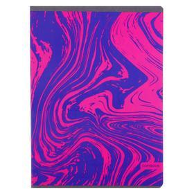"""Тетрадь А4, 48 листов в клетку """"Неоновые идеи. Дизайн 1"""", обложка мелованный картон, выборочный лак, блок офсет"""