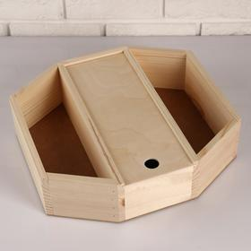 """Wooden planters """"hexagon Box"""", 3 sections, pull-out cover, ARRAY, 35×30×10 cm"""