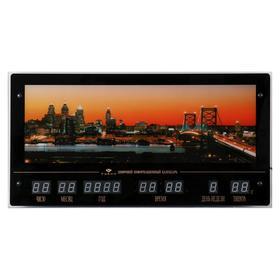 Картина с подсветкой и информационным календарем 'Мост, золотые ворота Сан-Франциско' 70*37см  62874 Ош