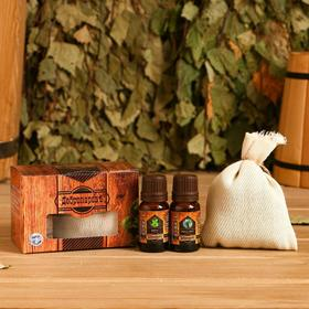 Behind the eucalyptus with essential oil of mint, eucalyptus, box