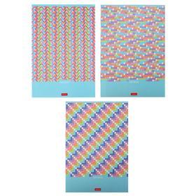 Тетрадь А4, 80 листов в клетку Pattern Collection, обложка мелованный картон,блок офсет, МИКС