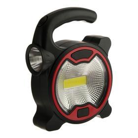 Прожектор светодиодный автономный Ritter, 5 Вт COB+1 Вт LED, 3xAA, 300 Лм + 80 Лм, IP23