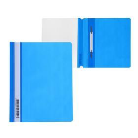 Папка-скоросшиватель А5 Бюрократ Люкс -PSL20A5BLUE прозрач.верх.лист, синяя
