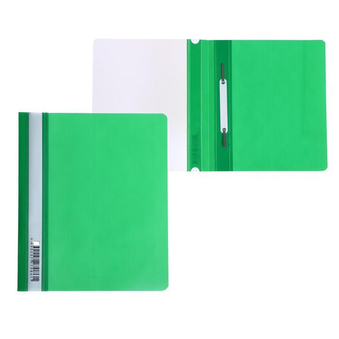 Папка-скоросшиватель А5 Бюрократ Люкс -PSL20A5GRN прозрач.верх.лист, зеленая