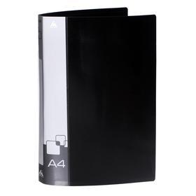 Папка с метал. зажим А4 0.7мм Бюрократ -PZ07CBLCK внутренний и торцевой карман, черная