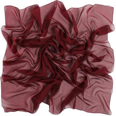 Women's shawl, size 90x90, color Burgundy