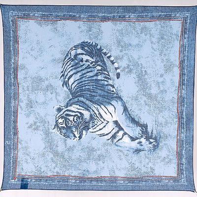 Women's shawl, size 53x53, color blue