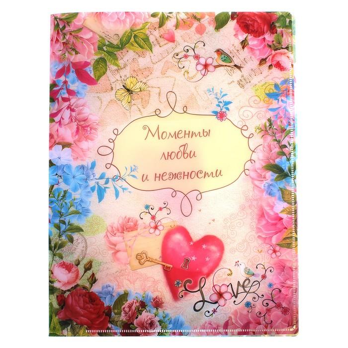 """Папка с файлами (10 шт.) """"LOVE"""", А4"""