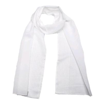 Women's scarf, size 39x152, color white
