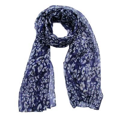 Women's scarf, size 43x155, color blue
