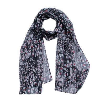 Women's scarf, size 43x155, color black