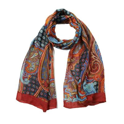 Women's scarf, size 43x155, color Burgundy