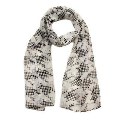 Scarf for women, size 45x155, color black, white