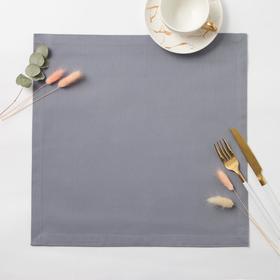 Салфетка столовая Этель 40*40 см, цв. серый, 100% хлопок, саржа, 250гр/м2