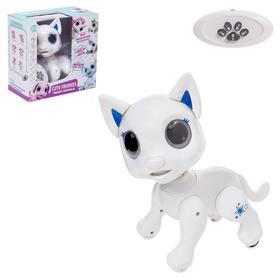 Робот-питомец радиоуправляемый «Кошка», световые и звуковые эффекты, цвет белый Ош