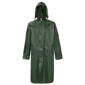 Плащ влагозащитный, полиэстер, цвет зелёный, размер 52-54, XL