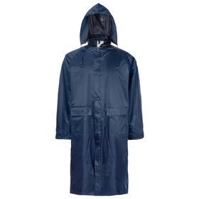 Плащ влагозащитный, полиэстер, цвет синий, размер 52-54, XL
