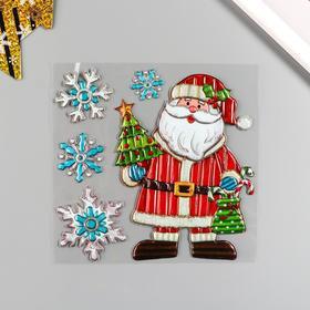 """Декоративная наклейка Room Decor """"Санта"""" 18х18 см"""