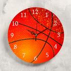 """Часы настенные """"Баскетбольный мяч"""",  d-23.5.. плавный ход - фото 495584"""