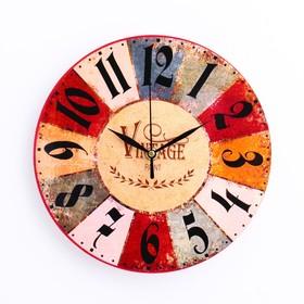 """Часы настенные """"Сицилия"""",  d- 23.5. плавный ход"""