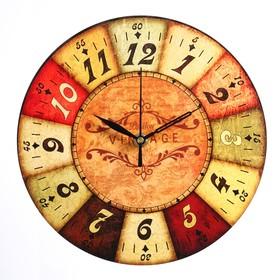 """Часы настенные """"Винтаж"""",  d-23.5. плавный ход"""