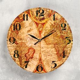 """Wall clock """"Geography"""", smooth running"""
