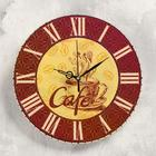 "Wall clock ""Coffee"", smooth running"