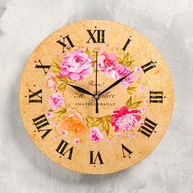 """Часы настенные """"Розы"""", d-23.5. плавный ход , стрелки микс"""
