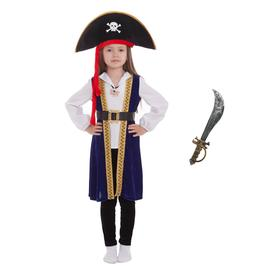 Pirate costume, hat, shirt, pendant, camisole, leggings, belt, saber, p. 30, height 110-116